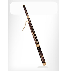 A classical bassoon with a white banner vector