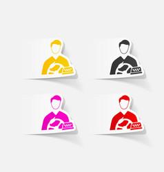 realistic design element taxi driver vector image