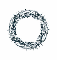 Crown of thorns of jesus christ vector