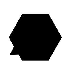 Hexagonal dialog icon vector