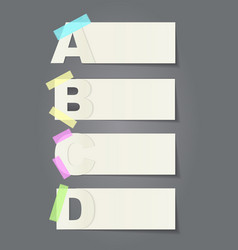 Sticky paper notes pack collection set vector
