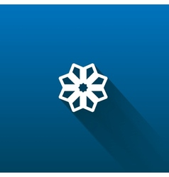 Snow flake isolated on dark vector