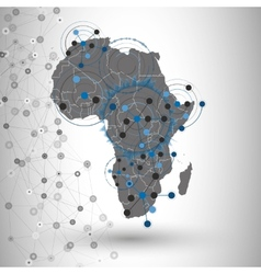 Africa map background  for communication vector