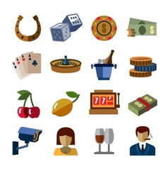 Casino icons vector