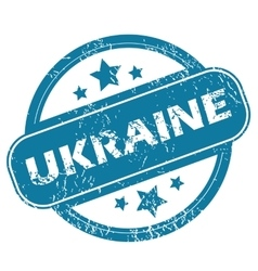 Ukraine round stamp vector