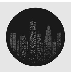 City skyscraper emblem vector