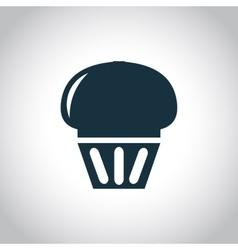 Cupcake black icon vector image