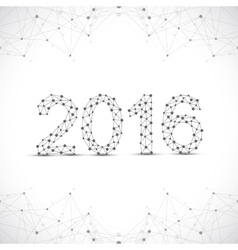 Text design happy new year 2016 graphic vector