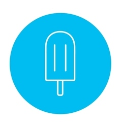 Popsicle line icon vector image