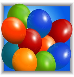Colourful balloons 3d panel vector