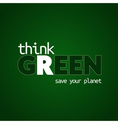 Think green background 1 vector