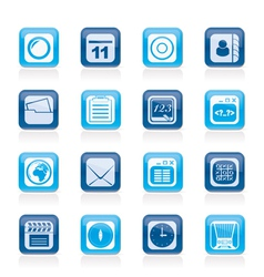 Mobile Phone and communication icons vector image