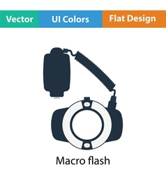 Icon of portable circle macro flash vector