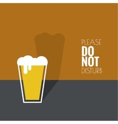 Abstract background with Beer glass vector image vector image