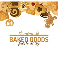 background with cookies vector image