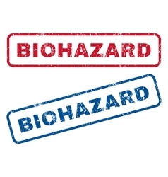 Biohazard rubber stamps vector