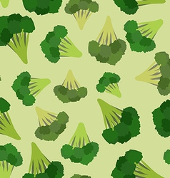 Broccoli seamless pattern Green broccoli von vector image