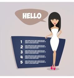 Business woman presentation Retro style vector image