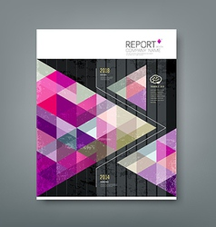 Cover report triangle geometry purple vector