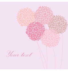 Cute unique floral card vector image vector image