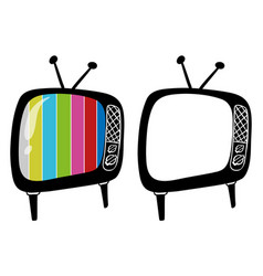 Doodle objects for televisions vector