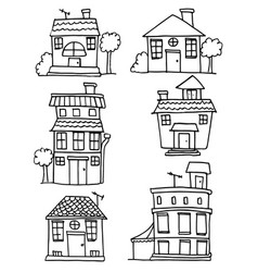 Doodle of house set collection vector