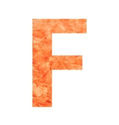 F land letter vector
