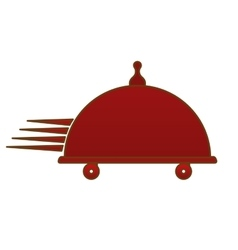 Fast food delivery emblem icon vector