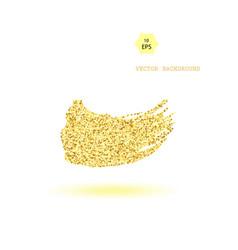 gold glitter wave background vector image vector image