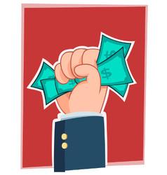 handfull of money vector image