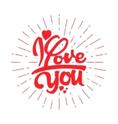 I love you hand-lettering text handmade vector