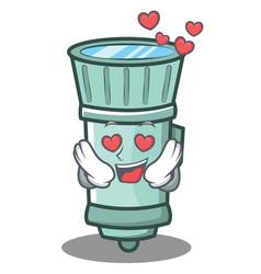 In love flashlight cartoon character style vector