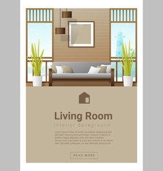 Interior design modern living room banner 7 vector