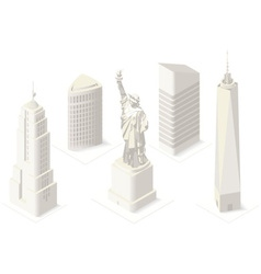 Nyc map 05 building isometric vector