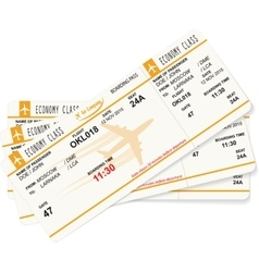 pattern of three boarding passes vector image