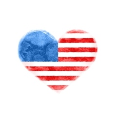 Poster of watercolor heart shape United State vector image vector image