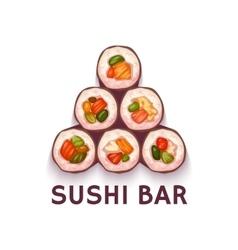 Pyramid for sushi bar vector