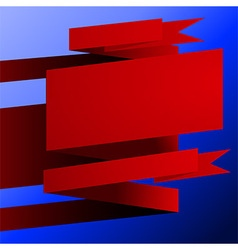 Red banner background vector