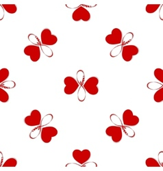 Seamless pattern with butterfly hearts Cute vector image