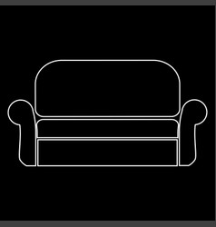 Sofa the white path icon vector