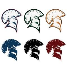 Spartan warrior set design template vector