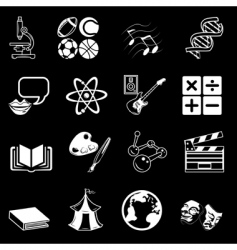 subject icons vector image vector image