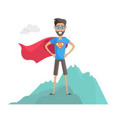superhero daddy in superhero costume vector image