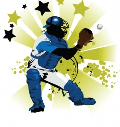 trap the ball vector image