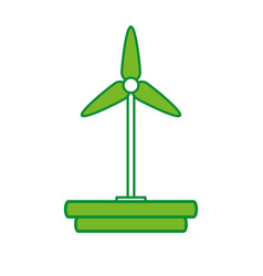 Turbine wind energy icon vector