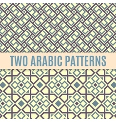Two arabic seamless patterns vector image