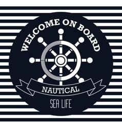 Welcome on board emblem design vector