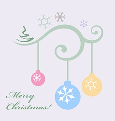 xmas decorations vector image vector image