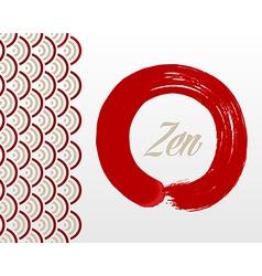 Zen circle background vector image