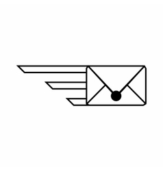 Express letter icon outline style vector
